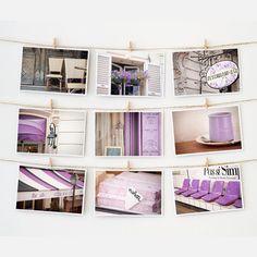Paris Postcard Collection Purple