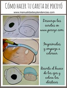 Materiales de #manualidades de #Pocoyó gratis www.manualidadesytendencias.com #imprimibles