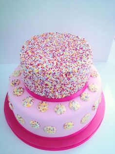 19th two tier birthday cake Beautiful Cakes Pinterest
