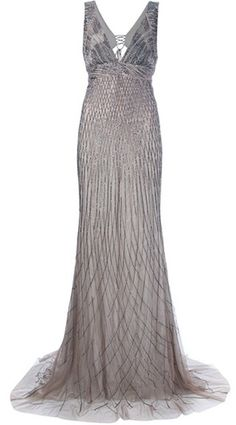 Roberto Cavalli - Silk Dress - Nude/Silver