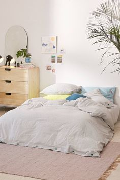 Micro Check Yarn-Dye Duvet Cover | Urban Outfitters