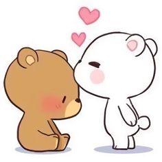 Ideas For Wall Paper Couple Cartoon Cute Cartoon Images, Cute Couple Cartoon, Cute Love Cartoons, Cute Cartoon Wallpapers, Cute Couple Memes, Cute Bear Drawings, Cute Couple Drawings, Kawaii Drawings, Cute Drawings Of Love