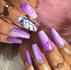 Unicorn Nails ✨✨ By: Tdang  Pinterest ➡️Hair,Nails, And Style
