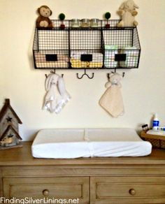 storage wall above changing table - Google Search