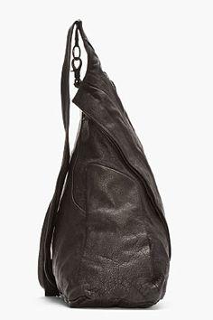 JULIUS black buffalo leather One-shoulder Backpack