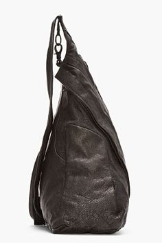 JULIUS black buffalo leather One-shoulder Backpack