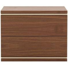 Duane Bedside Table | Laskasas | LuxDeco.com Modern Bedside Table, Steel Detail, Cleaning Wood, European Summer, Night Stand, Minimalist Bedroom, Wood Pieces, Ceiling Fixtures, Walnut Wood