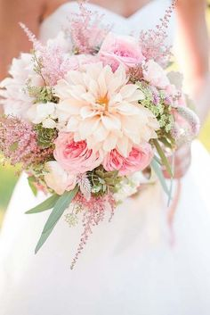 18 Soft Pink Wedding Bouquets To Fall In Love With ❤ See more: http://www.weddingforward.com/pink-wedding-bouquets/ #weddings #bouquets