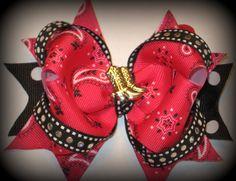 Cute cowgirl hair bow