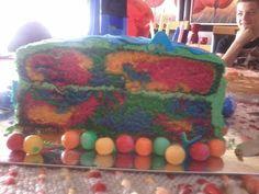 Cutting the cake was fun