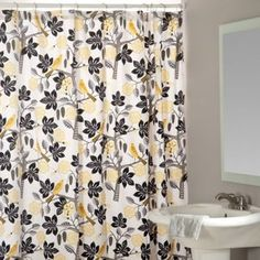 Small Talk Blackbird Shower Curtain