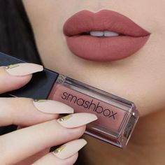 Lipstick MATTErs. ✨ Introducing #Smashbox's NEW Always On Liquid Lipsticks! These liquid lipsticks stay on ALL day with a matte finish while feeling comfortable on the lips. Stay tuned for more swatches of the liquid lipstick collection that we have in-store, available today. Lip swatch by @melissasamways, wearing the shade 'Stepping Out.'l