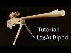 Tutorial! L96A1 Bipod [rubber band gun] - YouTube