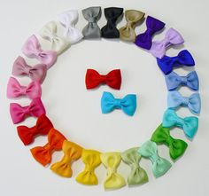 Girls Infant Hair Bow Set Newborn Small Tiny Little Baby Bows Kids Boutique Hair Clip Hairbows (Set of 25) Choose Colors on Etsy, $35.50