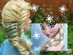 Trança Frozen, Frozen's Elsa romantic braid hairstyle tutorial (inspirada em Elsa) - Telma tranças - YouTube