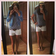 #outfit #fashion #mycloset #mystyle #zin #short #denim #hut #sandals #casualoutfit #summeroutfit