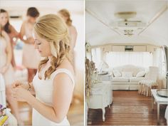 new take on a bride's quarters: an airstream bus!