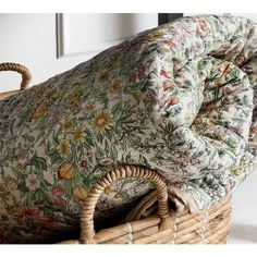 A soft floral quilt with a plain background in mustard or pink. Cosy and inviting space. On sale now at The Forest & Co Casa Retro, Mourning Dove, Boho Home, Quilted Bedspreads, Deco Design, Design Design, My New Room, Soft Furnishings, Home Bedroom