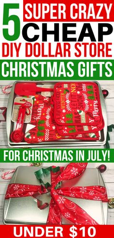Christmas In July, Cheap Christmas Gifts, Dollar Store Christmas, Christmas Gift Baskets, Christmas Gift Games, Neighbor Christmas Gifts, Christmas On A Budget, Easy Christmas Crafts, Diy Gift Baskets