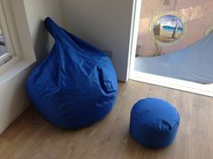 Nice lunch on one of our new office beanbags, speed-reading to finish in time for book club tonight. Day 90 of #100happydays