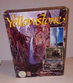 Yellowstone National Park Wildlife Survival Bookshelf Game Avalon Hill 1985 100
