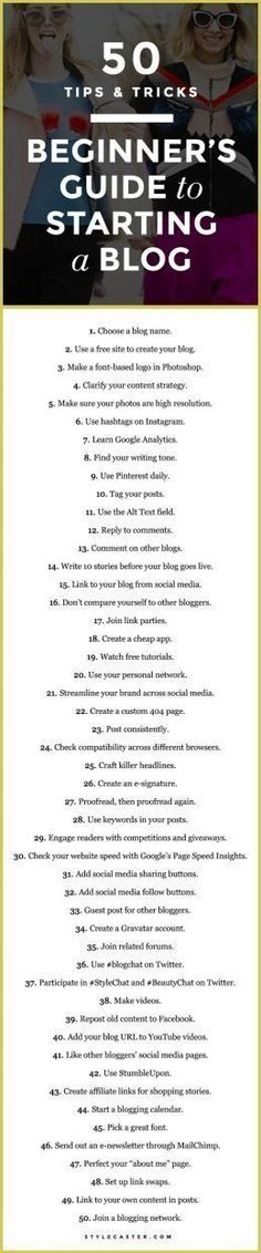 A Beginner's Guide To Starting a Blog - 50 practical (and cheap) tips & tricks for any newbie blogger.