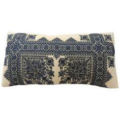 Embroidery Fez Antique Textile Bolster Pillow