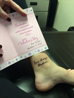 """The tattoo I got in remembrance of my grandmother who passed away in 2010. """" #TattooIdeasInMemoryOf"""