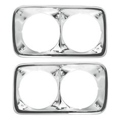 1969-1972 GMC Truck Headlight Chrome Bezels Pair. | Chevy Parts