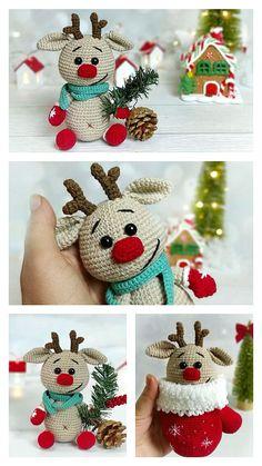 Stuart Little, Step By Step Crochet, Learn To Crochet, Reindeer, Free Pattern, Crochet Patterns, Crochet Hats, Design, Knitting Hats