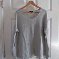 Lightweight grey sweater Gap Factory lightweight grey sweater. Size XL. Worn but in very good condition. No trades please!  let me know if you have questions ❓ and make me an offer!!  happy shopping!   All items from a smoke free home! GAP Sweaters Crew & Scoop Necks