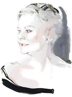 David Downton fashion effect women watercolor | Flickr - Photo Sharing!