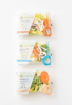 Salad Packaging, Food Packaging, Brand Packaging, Packaging Design, Fruit Delivery, Japan Package, Japanese Packaging, Food Branding, Plastic Packaging