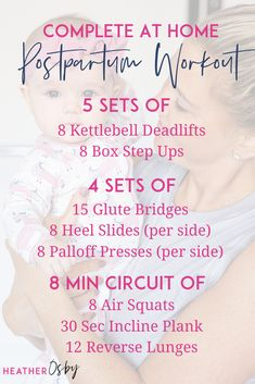 Kettlebell Deadlifts, Box Step Ups, Glute Bridges, Heel Slides, Palloff Presses, Air Squats, Incline Plank, Reverse Lunges. WHEN IT COMES TO PREGNANCY AND POSTPARTUM WORKOUTS IT'S NOT SO MUCH ABOUT THE EXERCISES THEMSELVES BUT HOW YOU PERFORM THOSE EXERCISES. ⠀ A few things to pay attention to as you're returning to your at home postpartum workouts: Watch your body positioning, Breathe, Monitor for symptoms. How to return to your at home postpartum exercise? A-Z guide first 16 weeks after… Fit Board Workouts, At Home Workouts, Crossfit At Home, Air Squats, Diastasis Recti, Fitness Design, Pelvic Floor, Kettlebell, Hiit