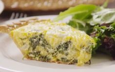 How To Make Light & Fluffy Spinach Quiche
