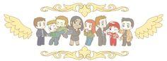 Michael, Lucifer, Gabriel, Raphael, Anna, Balthazar, Samandriel, and Castiel     Supernatural Fan Art