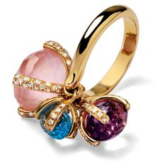 Love this colored diamonds ring