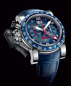 GRAHAM Chronofighter Oversize GMT Blue #luxurywatch #graham1695 Graham 1695 . Swiss Luxury Watchmakers watches #horlogerie @calibrelondon