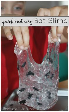 //  //  Make Easy Slime For Sensory Play Quick And Simple Recipe For Making Bat Slime  Hands-On Activities For Play And Learning Love all the great science and sensory play options for Fall and Halloween. Of course, bat slime can be anytime of the year for a study on bats or your favorite super ...