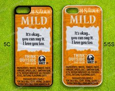 Taco Bell Sauce Design - iPhone 5 case, iPhone 5s case, iPhone 5c case, Hard Cover Skin for iPhone by Ucoolka on Etsy