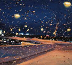 para-brisa em dia de chuva - linda pintura de Gregory Thielker