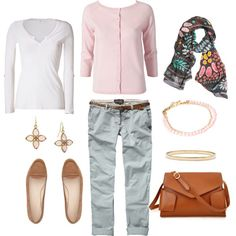 Gray and Pink, created by bluehydrangea.polyvore.com