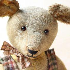 "Antik Teddy Bear c1910 20 Character Bear Lukas The Train Driver 27 6"" Steiff Dog   eBay"