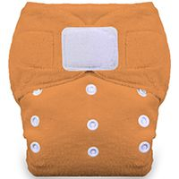 Thirsties Duo Fab Fitted Cloth Diaper - $16.50 Size 1 fits 6-18lbs, Size 2 fits 18-40lbs.  Good for overnight.  Recommended by Naturally Thrifty Mom.