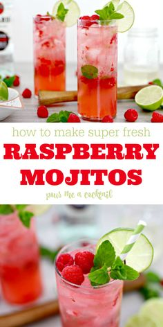 How to Make Raspberry Mojitos
