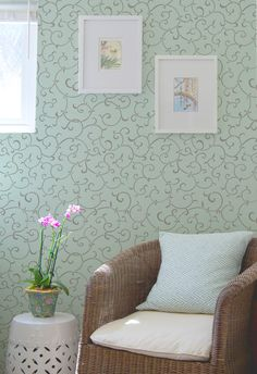 Allover Pattern Stencils | Oriental Vine Stencil | Royal Design Studio