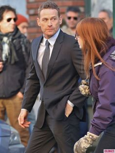 Dakota Johnson, Jamie Dornan and Max Martini Film '50 Shades of Grey'
