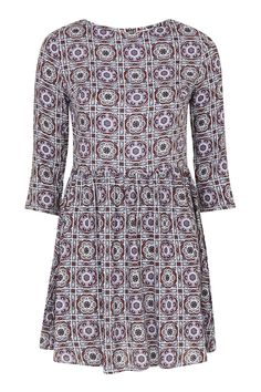 **Long Sleeve Smock Dress by Glamorous Petites - Topshop