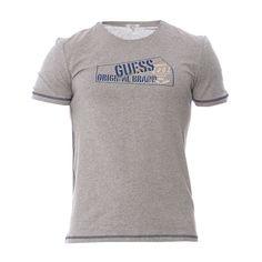 GUESS UNDERWEAR MEN  T-Shirt Founded gris chiné   Semaine du 15 juin