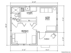 "22'x18'6"" one bedroom, one bath cottage with integral porch (350 SF) by Historic Shed"
